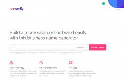 Radix - a Domain Registry Launches a Brand Name Spinner, Namify.tech
