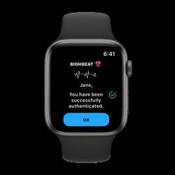 taliware biombeat passwordless authentication apple watch